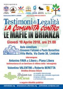 Testimoni di Legalita - 19 aprile